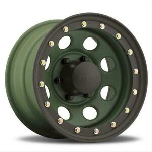 046 Series Stealth Crawler Lockring Style Camo Green 15x10 Wheels Set 046 5060cg