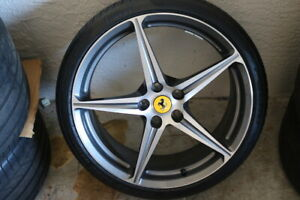 Ferrari 458 Machined Front Wheel W tire Oem Low Mileage