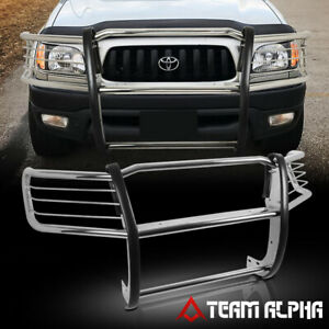 Fits 1998 2004 Tacoma Chrome Stainless Steel 1 5 bumper Grille brush Guard grill