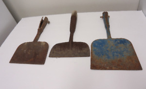 3 Vintage Garden Edger Heads Tools Scraper Old Farm Tools Primitive Decor Rusty