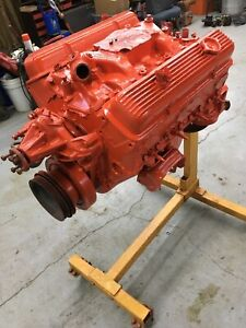 Chevrolet 350 5 7l 4 Bolt Main Engine Motor Sbc Small Block Chevy Heads Truck