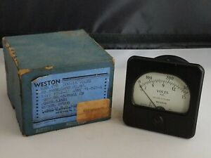 Vintage Weston Panel Meter Model 476 Army navy Issue A C 15 300 Volts Rare Wwii