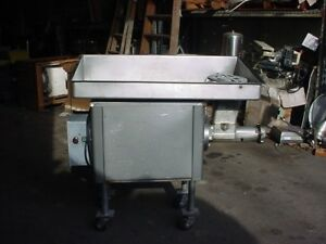 Model 4146 Hobart Stainless Steel Meat Grinder 32 3 phase Electric