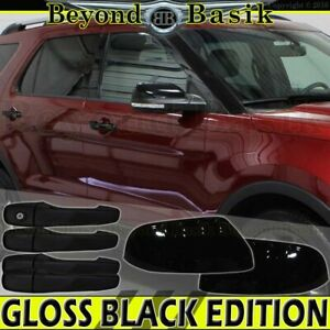 2011 12 2013 2014 2015 Ford Explorer Gloss Black Door Handle Covers Nosk Mirrors