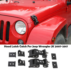 Hood Latch Locking Catch Buckle Latches For Jeep Wrangler Jk Unlimited 2007 2x