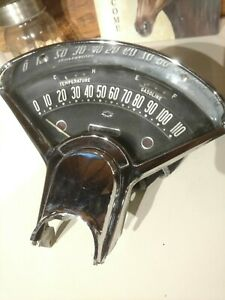1955 Chevy Manual Guage Cluster 1956 Vintage Speedometer Fuel Temp Antique