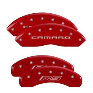 Mgp 4 Caliper Covers Red Engraved Front Camaro Rear Rs For 2016 2020 Chevrolet