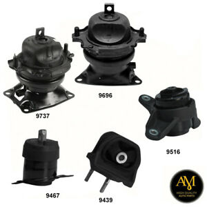 Engine Transmission Mounts Set 5 Pcs For Honda Accord Crosstour 3 5l