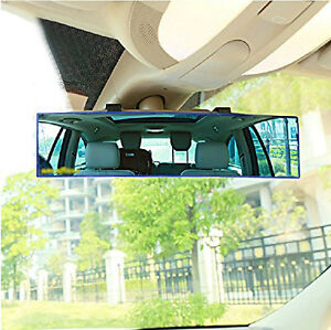 Universal 300mm Wide Curve Convex Interior Clip Panoramic Rear View Mirror