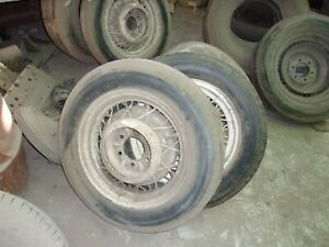 17 Inch Wire Wheels With Tires Off Of A 34 Chevy