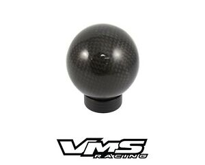 Vms Racing Carbon Fiber Round Billet Gear Lever Shift Knob For Subaru