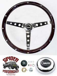 1969 1973 Camaro Steering Wheel 15 Classic Wood