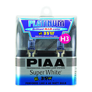 Piaa 35w 60w Super White Xtra Technology H3 Halogen Light Bulbs For Fog Lamps