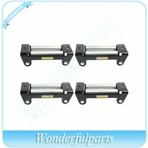 Utv Offroad Winch Roller Fairlead 4 Way Cable Guide 10 Bolt Pattern New 4pcs