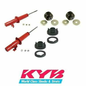 Kyb Agx Front Shock Absorbers Strut Mounts Kit Fits Honda Civic 1992 To 1995