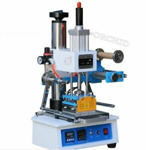 220v Pneumatic Hot Foil Stamping Press Machine Stamper Leather Logo Printer Yu