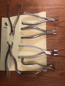 Used Dentist Hand Tools Lot Dental Surgical Tools Pliers 6 Pieces Edlo