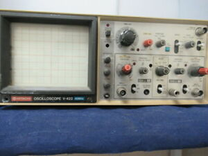 Hitachi Analog Oscilloscope V 422 40 Mhz W Leads 7054j