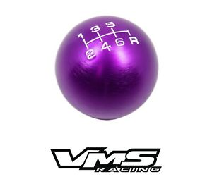 Vms Racing Purple Round Cnc Billet Gear Lever Shift Knob For Honda Acura 6 Speed