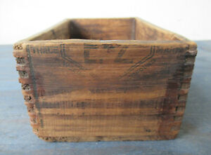 Antique Box Wood Shipping Display E Z Welding Compound Small 6 X 4 X 3