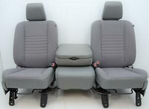 2006 2007 2008 Dodge Ram 1500 2500 3500 Front Gray Cloth Seats Jump Seat Console