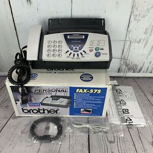 Brother Fax 575 Personal Plain Paper Fax Phone And Copier New Open Box Condition