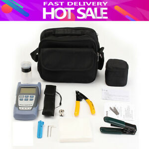 Fiber Optic Ftth Tool Kit Fc 6s Cutter Cleaver Optical Power Meter Visual Device