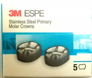 5 Boxes 3m Stainless Steel Primary Pedo Molar Crowns All Sizes Quantity