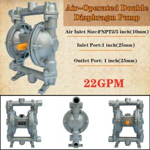 22 Gpm 1 Air operated Double Diaphragm Pump Inlet Outlet Low Viscosity Fluids