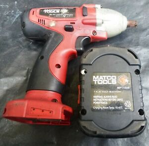 Matco Tools Mptl144iw 3 8 Impact Driver 14 4v W Battery