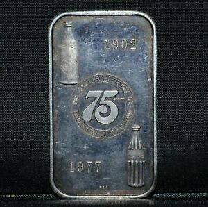 VINTAGE 1977 COCA-COLA 1 OZ SILVER BAR ✪ BIRMINGHAM ✪ COKE 75 YEARS ◢TRUSTED◣