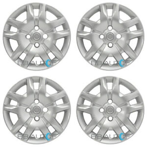 4 New 16 Silver Bolt On Hubcaps Rim Wheel Covers For 2007 2012 Nissan Sentra