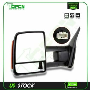 Power Heated Turn Signal Side Mirror Towing Driver Lh For 2007 16 Toyota Tundra
