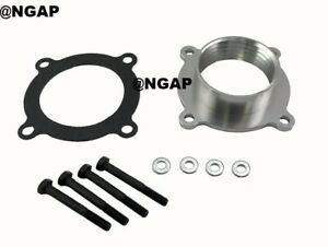 Silver Throttle Body Spacer For 07 12 Jeep Liberty Grand Cherokee Commander 3 7l