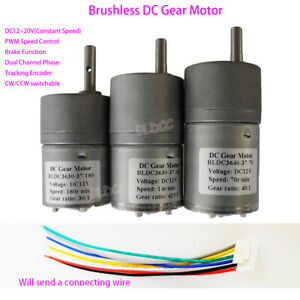 Brushless Dc Gear Motor Dc 12v Bldc Gear Motor Pwm Cw ccw Dual Channel Pulse
