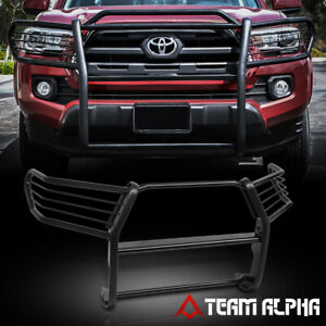 Fits 2016 2019 Tacoma Black Mild Steel 1 5 front Bumper Grille brush Guard grill