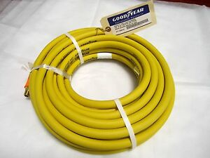 50ft X 3 8 Air Hose Goodyear Continental Yellow Oil Resistant 1 4 Npt Fitting