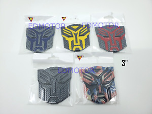 Transformers Autobot Badge Emblem 3 Inch Black Yellow Red Blue Usa Carbon