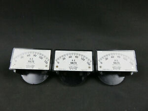 Lot Of 3 Vintage Triplett Model 327 u A c 0 150 Volts Meter