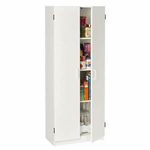 System Build Flynn Wooden Storage Cabinet White White