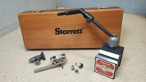 Starrett No 657a Magnetic Base With A Starrett No 196 Indicator In Wooden Box