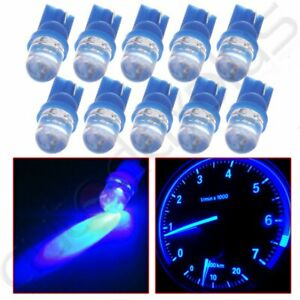 10pcs Ultra Blue T10 158 194 W5w Led Speedometer Instrument Dash Lights Lamp 12v