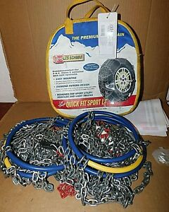 2324 s Les Schwab Quick Fit Sport Lt Tire Snow Chains Used