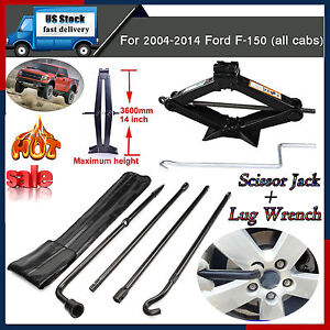 For Ford F 150 Pickup Repair Spare Tire Lug Wrench Tool Kit scissor Jack handle