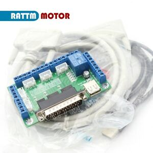 5 Axis Breakout Board Mach3 Interface Stepper Motor Driver Cnc Router Controller