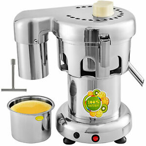110v Commercial Juice Extractor Stainless Steel Juicer Heavy Duty 370w 60 80kg