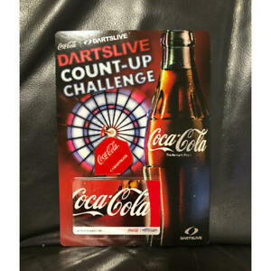 Darts Live Coca Cola Collaboration Card Flight prize limited table game