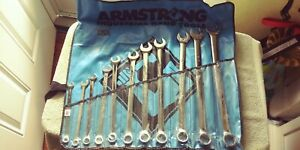 Armstrong11 Piece 3 8 To 1 12 Point Combination Wrench Set lot 306