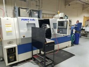 Used Daewoo Puma 250 lb Long Bed Cnc Turning Center Lathe Fanuc Tool Doosan 1999