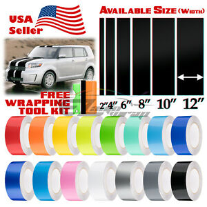 Gloss Color Racing Stripes Vinyl Wrap Decal For Scion Xb Sticker 10ft 20ft